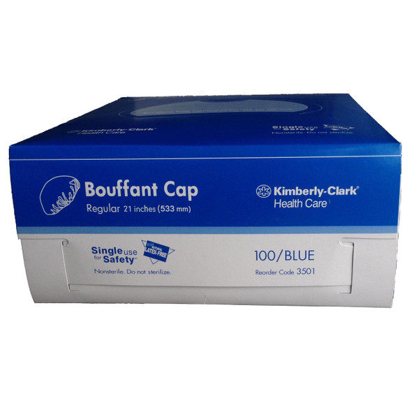 Halyard Bouffant Cap, Regular - 5 x 100 Units/ Pack