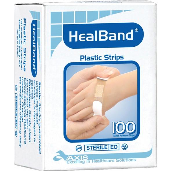 Bandaid Healband Strips Box/100