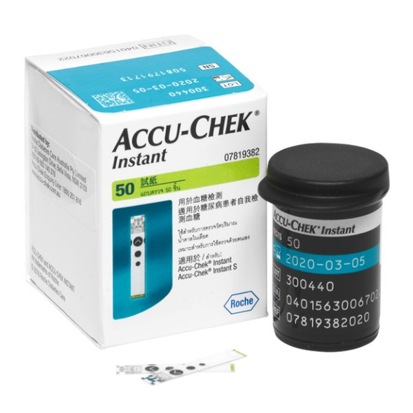 Accu-Chek Instant S Blood Glucose Strips - 50 Pack