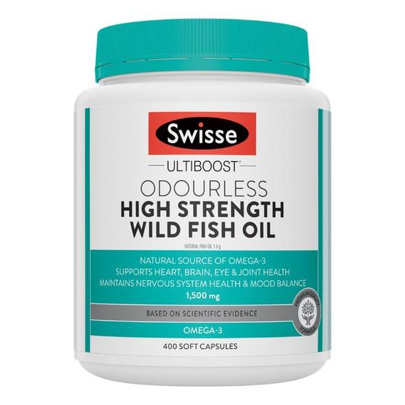 Swisse Odourless High Strength Wild Fish Oil