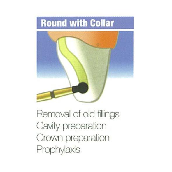 Diamond Burs Round With Collar