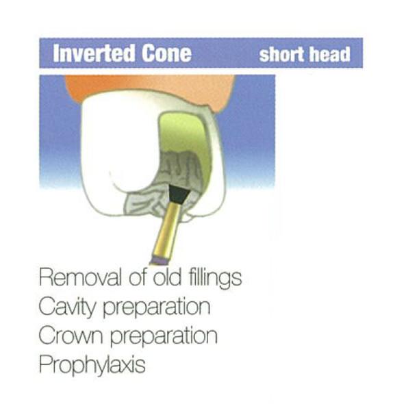 Diamond Burs Inverted Cone Short Head