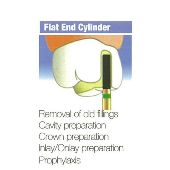 Diamond Burs Flat End Cylinder