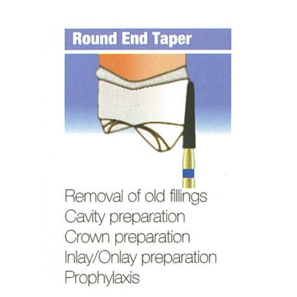 Diamond Burs Round End Taper