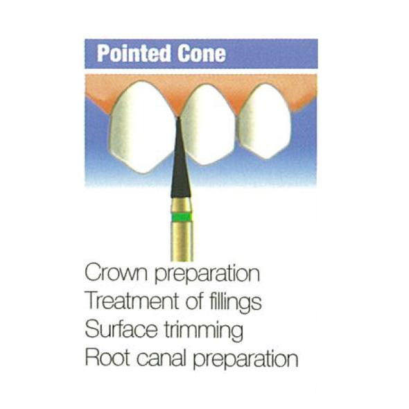 Diamond Burs Pointed Cone