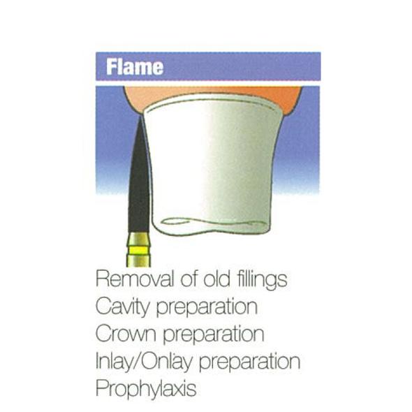 Diamond Burs Flame