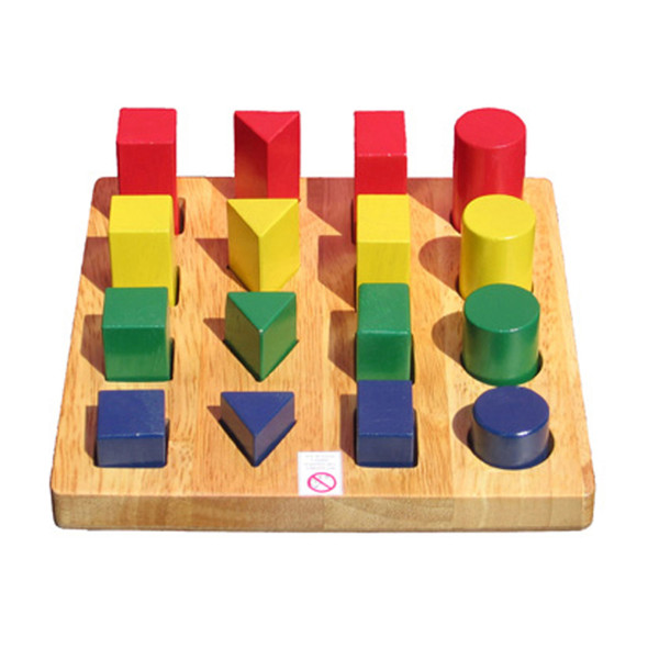Wooden Toy - Shape and Size Board