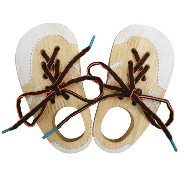 Wooden Toy - Let's Lace Shoes - Pair