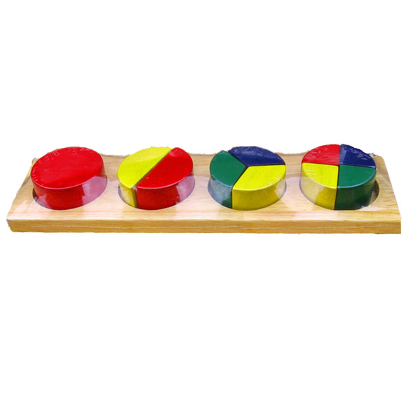 Wooden Toy - Round Fraction Bar