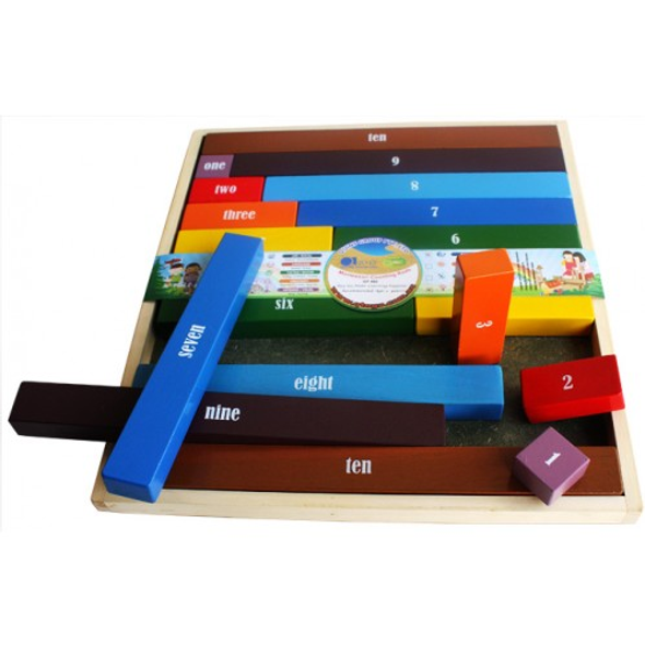 WOODEN TOY - MONTESSORI COUNTING RODS