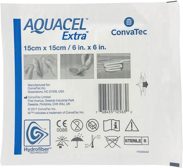 "New and Improved AQUACEL Extra Hydrofiber Dressing 6"" x 6"""