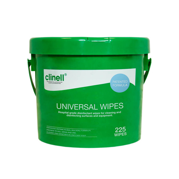 Clinell Universal Sanitising Wipes - Bucket 225 Units