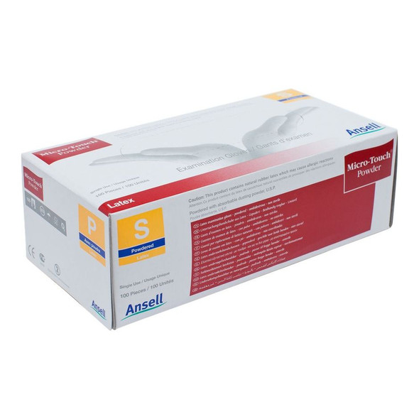 Ansell Micro Touch Gloves - Powdered - 100 Gloves/ Pack