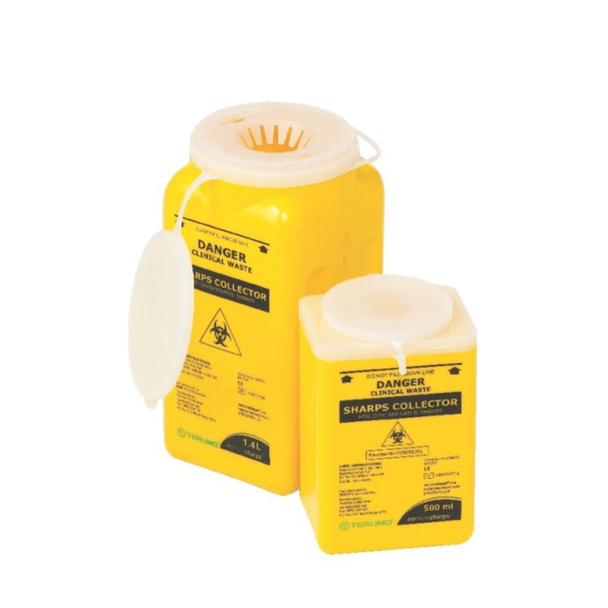 Sharps Container With Clip Lid