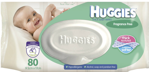 Huggies Baby Wipes Unscented Refill 80Pk