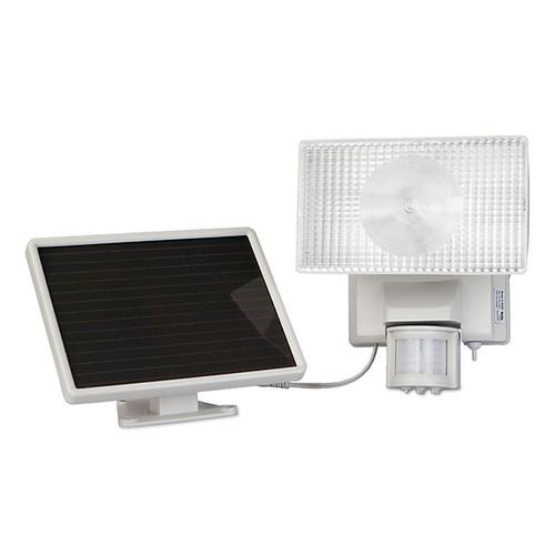 Solar-Powered Motion-Activated 30 Watt Outdoor Security Floodlight