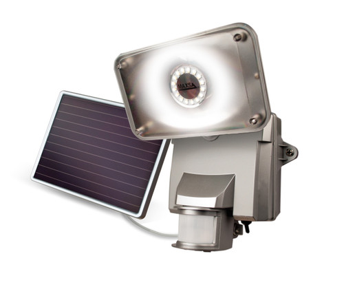 Solar-Powered Motion-Activated Security Floodlight with 16 SMT LEDs