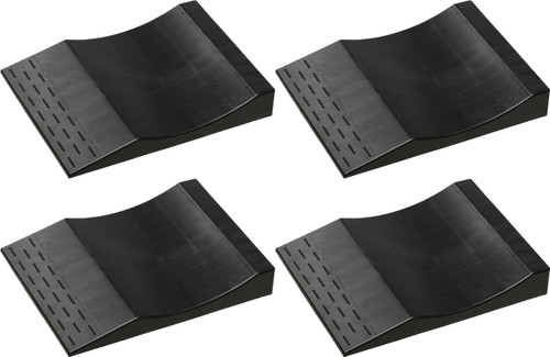 Park Right® Flat Free Tire Ramps - Black (Set of 4)