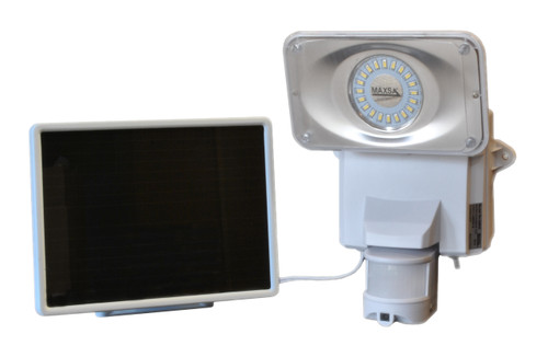 Solar-Powered Security Video Camera and Floodlight