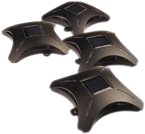 Ninja Stars™ - Solar-Powered LED Accent Deck Lights (Pack of 4)