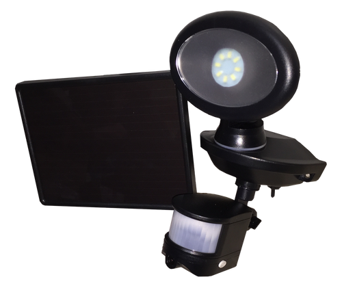 Solar-Powered Security Video Camera and Spotlight