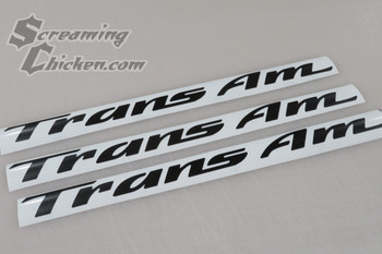 1993-2002 Trans Am Lettering Overlays for Door Emblems