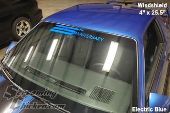 1992 Camaro 25th Anniversary Windshield/Back Glass Graphic