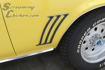1969 Camaro Quarter Panel Louvers