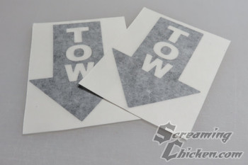 Tow Hook Stickers