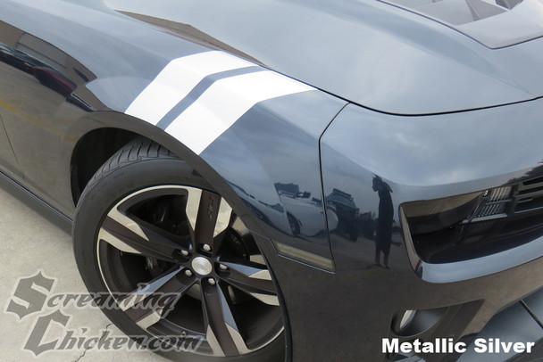 2010-15 Camaro Hash Mark Stripes in Metallic Silver