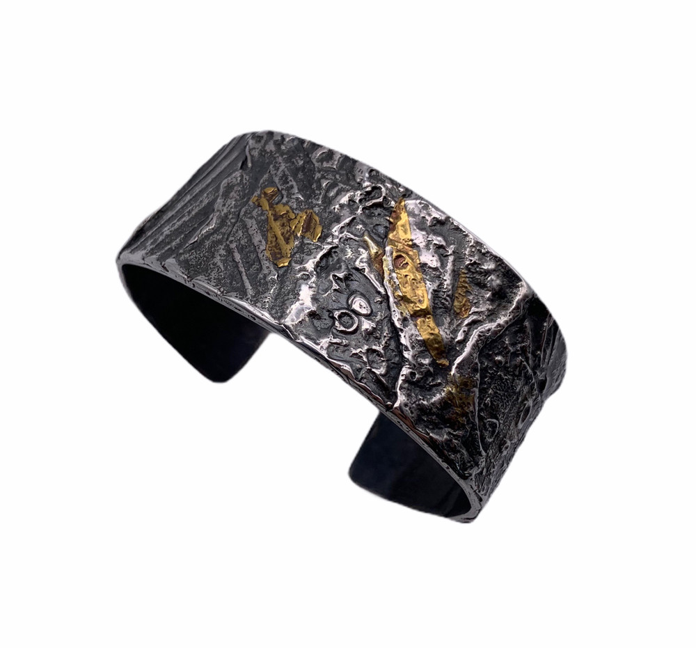 Sterling Silver and 24K Keum Boo Cuff