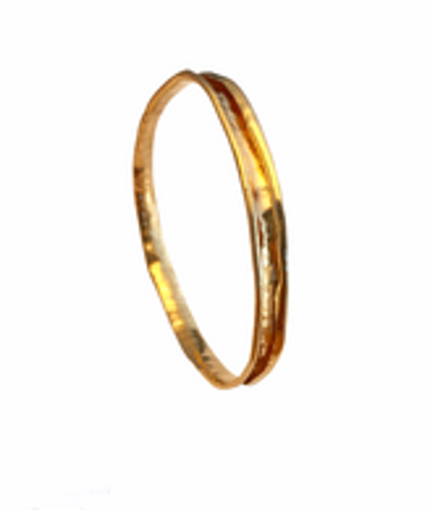Anti-clastic 14k gold-filled bangle