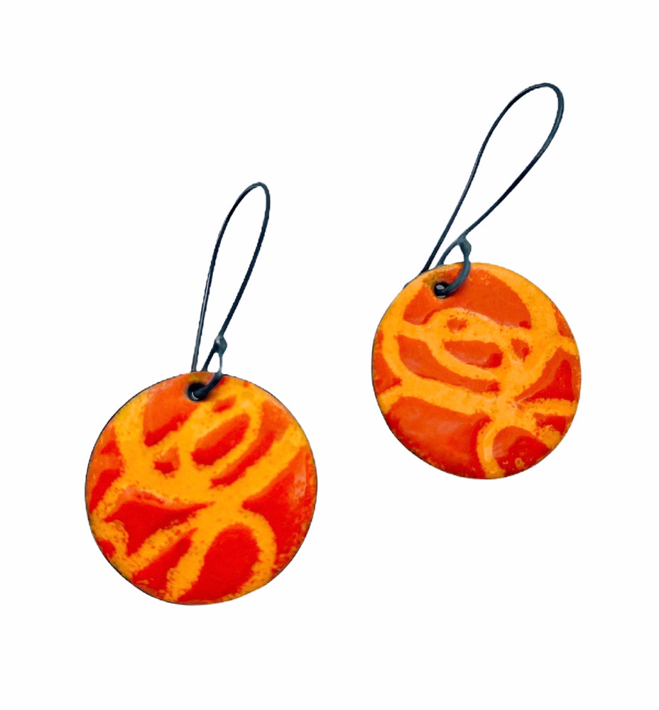 Hot Orange Earrings