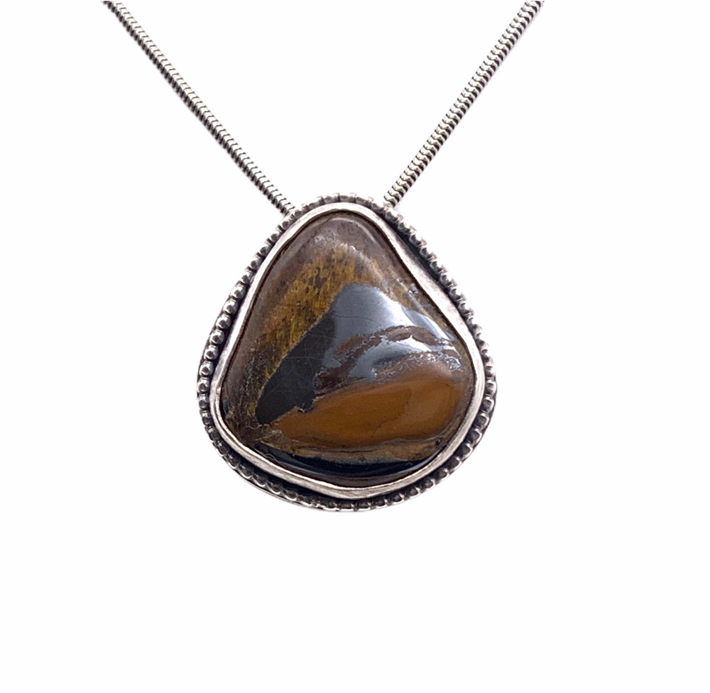Sterling Silver and Tiger's Eye Pendant