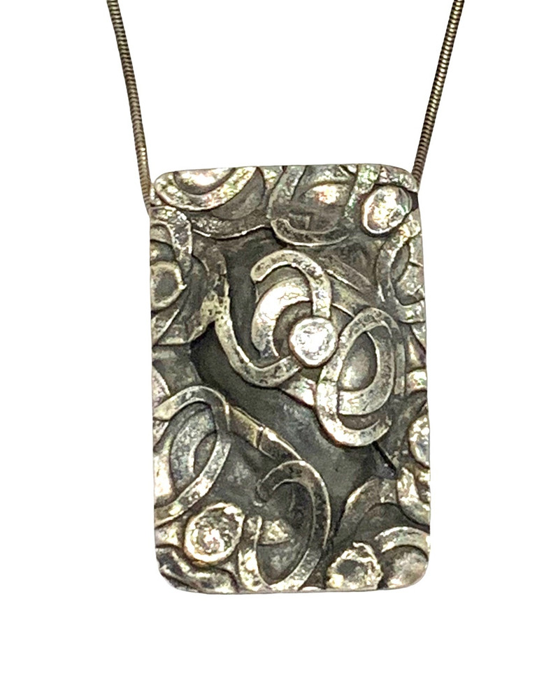 Sterling Silver Fused Pendant
