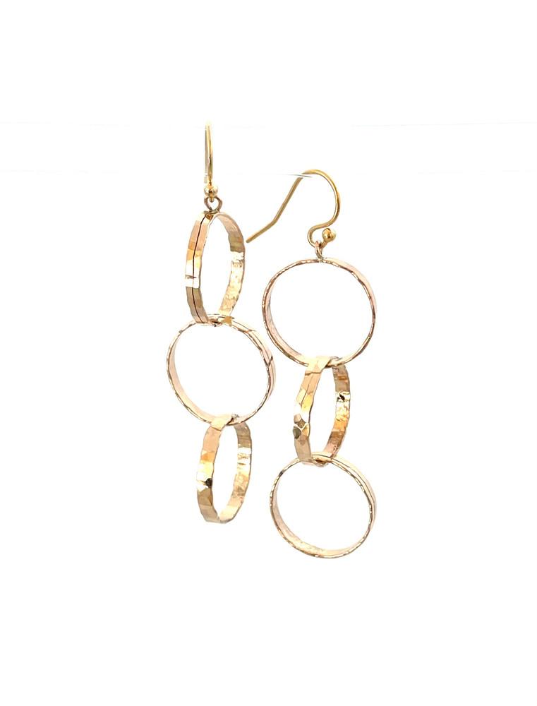 Hand forged 14K GF dangle earrings