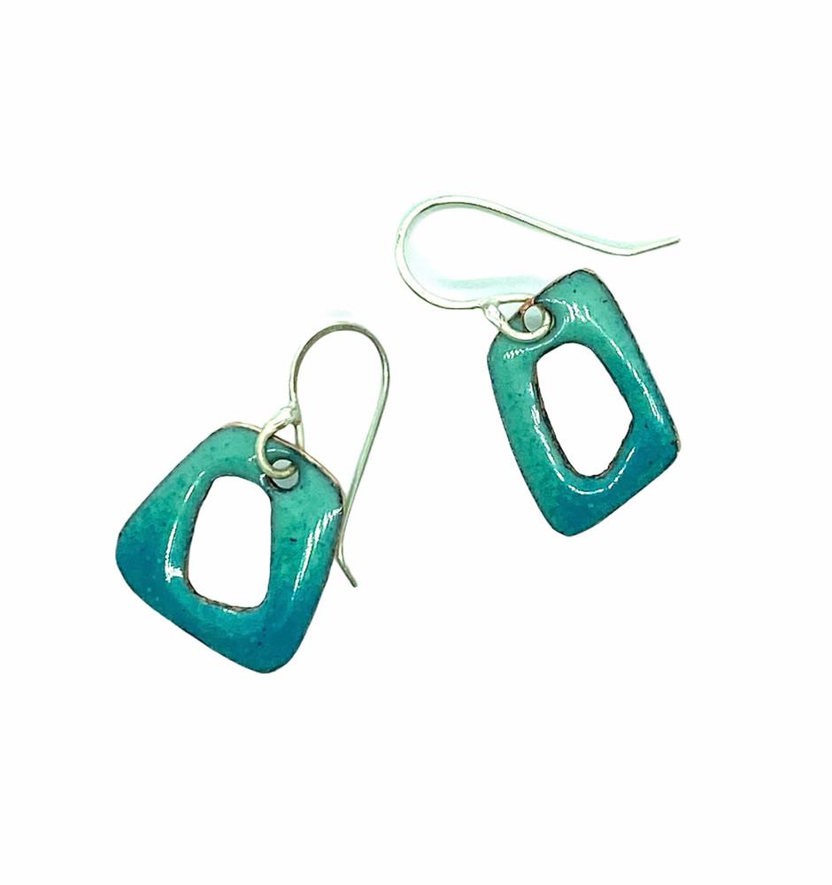 Aqua Retro Shapes Earrings