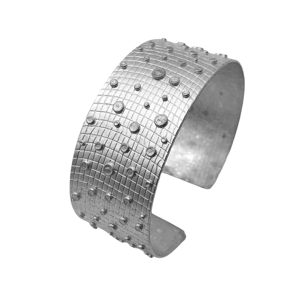 Sterling Silver Fused Dot Cuff