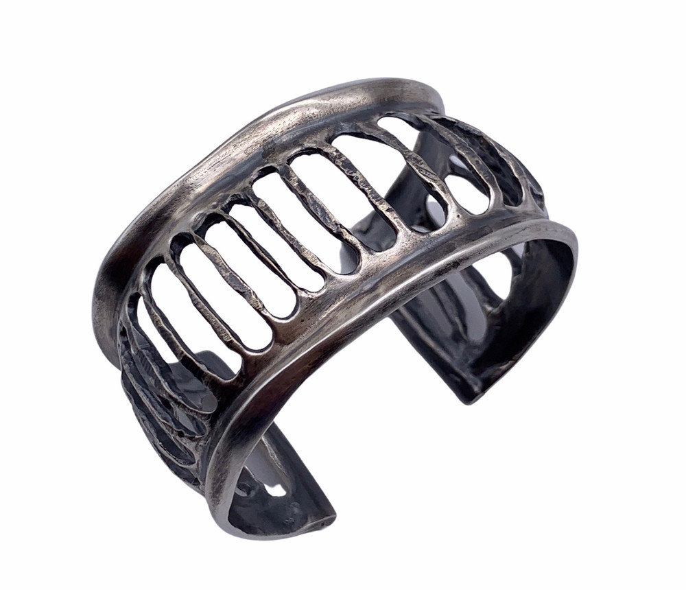 Sterling Silver Corrugated Cuff