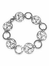 Sterling Silver  Hammered Link Bracelet