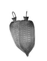 Etched Sterling Pod Earrings