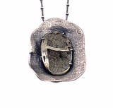 Sterling Silver and Pyritized Ammonite Pendant