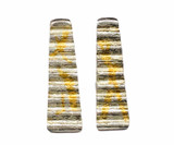Sterling Silver and 24K Gold Keum Boo Ripple Earrings