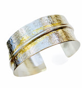 Sterling Silver and 24K Gold Keum Boo Cuff