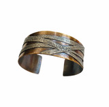 Sterling Silver and Bronze Fused Cuff