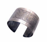 Sterling Silver Swirl Etched Cuff