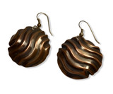 Good Vibrations Earrings -oxidized copper