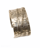 Sterling silver fold-formed cuff