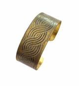 Brass Etched Cuff