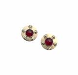 Sterling silver and rhodolite garnet post earrings